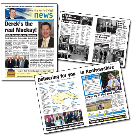 <b>NEWSPAPER DESIGN</b> - Renfrew SNP